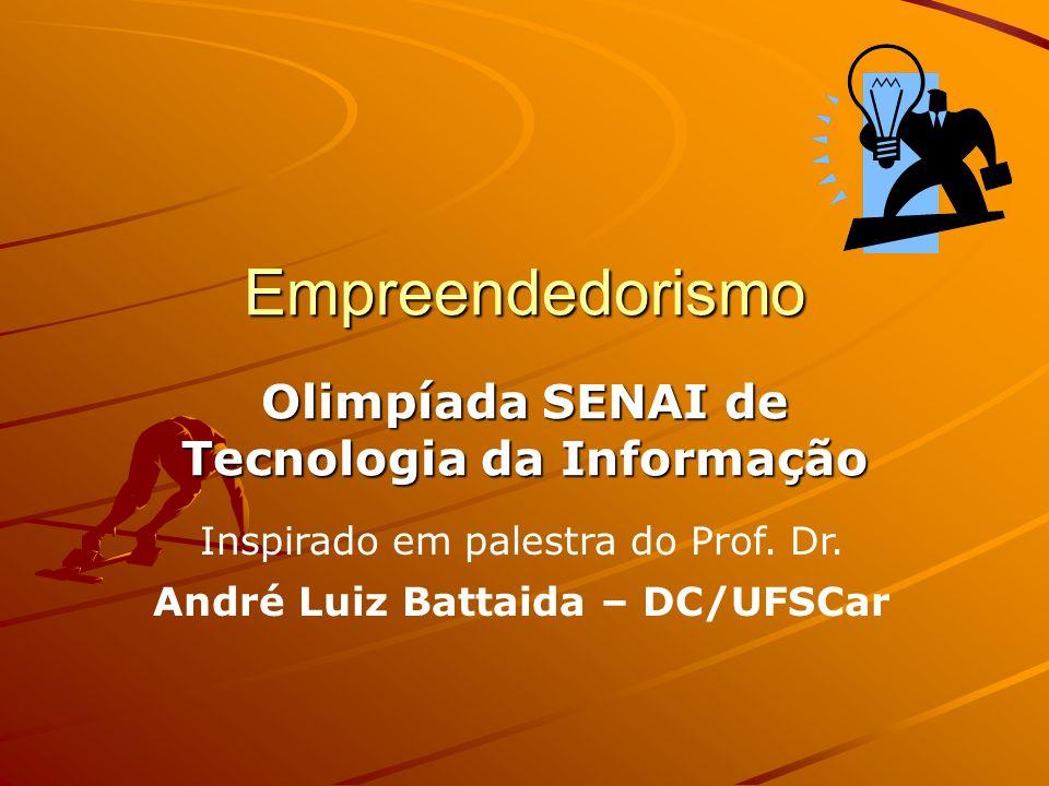 Empreendedorismo Olimpíada SENAI de Tecnologia da Informação Inspirado em palestra do Prof.