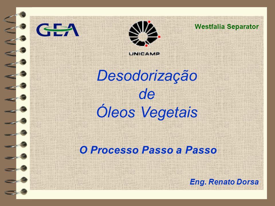 Desodorização de Óleos Vegetais O Processo Passo a Passo Westfalia Separator Eng. Renato Dorsa