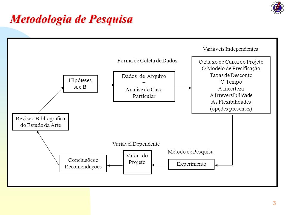 3 Metodologia de Pesquisa O Fluxo de Caixa do Projeto O Modelo de Precificação Taxas de Desconto O Tempo A Incerteza A Irreversibilidade As Flexibilid