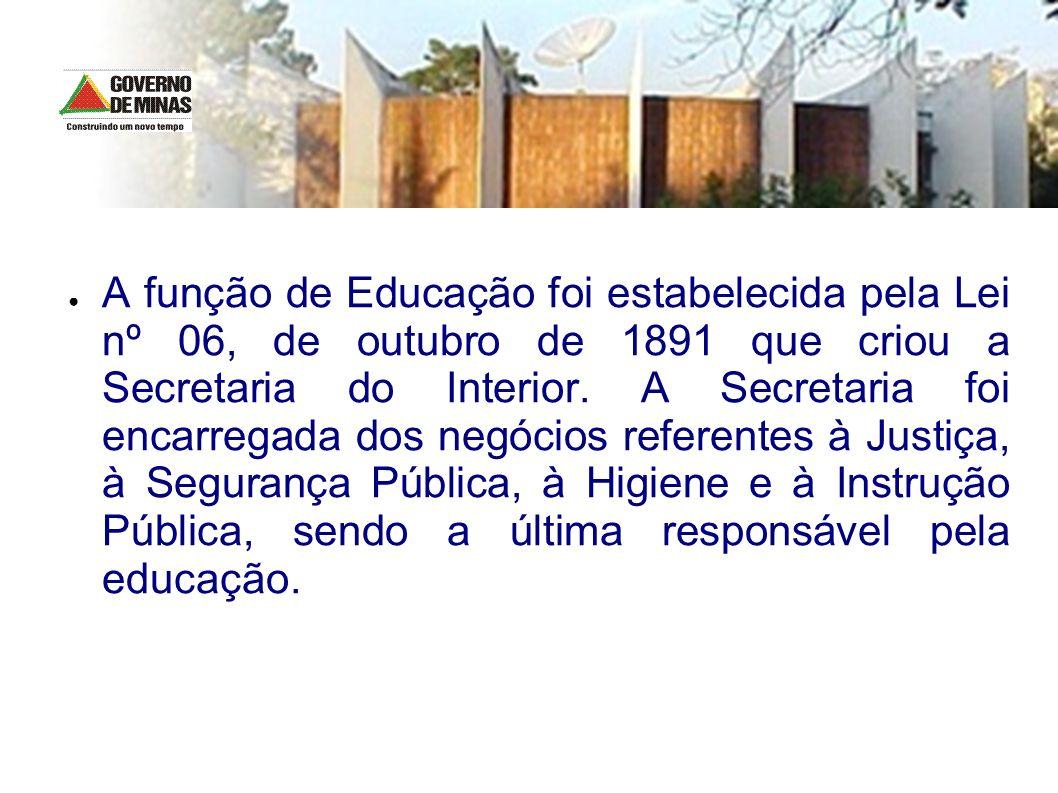 A função de Educação foi estabelecida pela Lei nº 06, de outubro de 1891 que criou a Secretaria do Interior. A Secretaria foi encarregada dos negócios