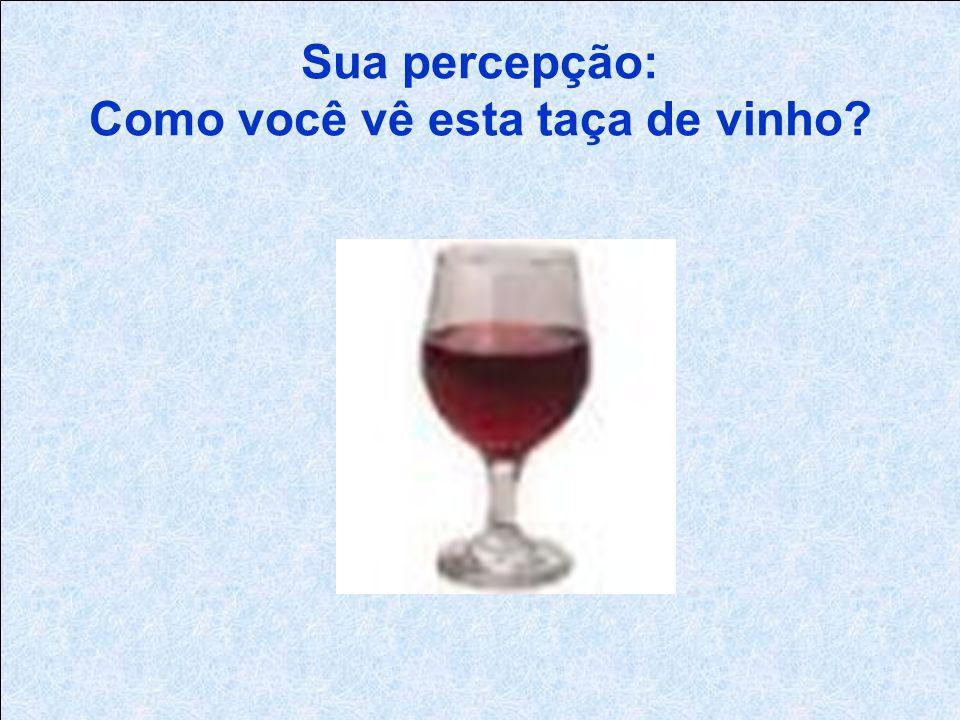 Sua percepção: Como você vê esta taça de vinho