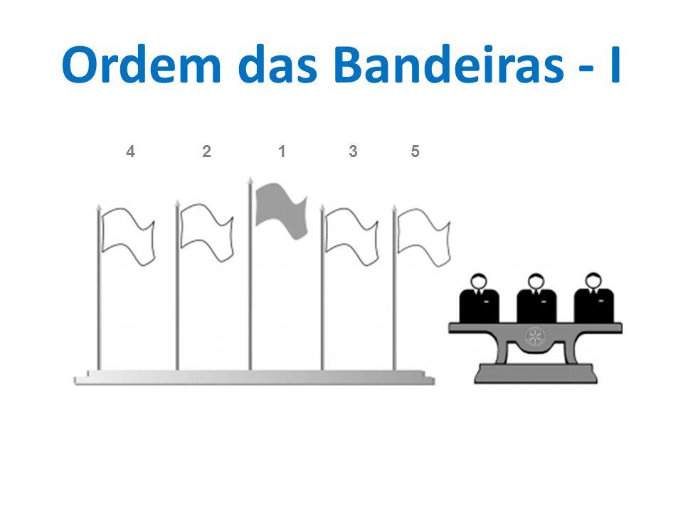 Ordem das Bandeiras - I 4 2 1 3 5