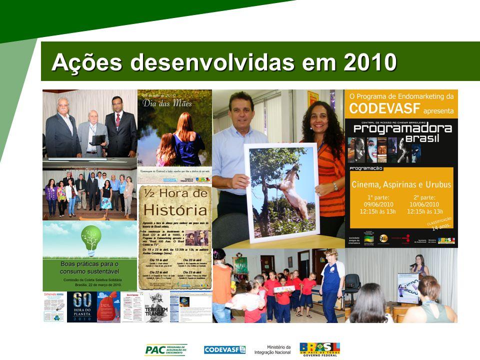 Ações desenvolvidas em 2010