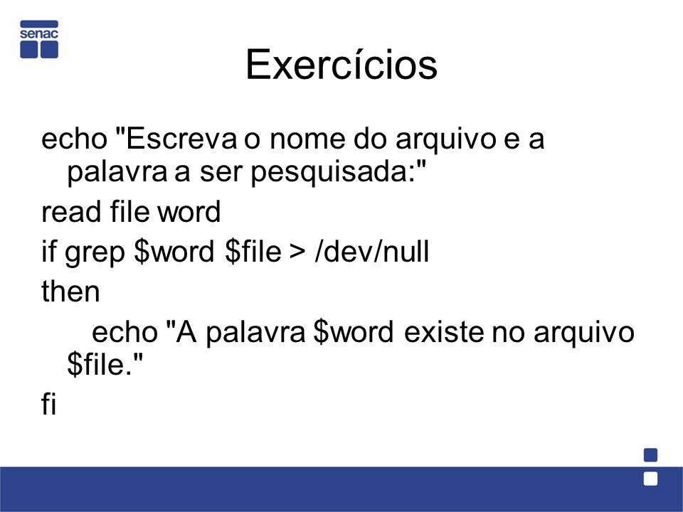 Exercícios echo