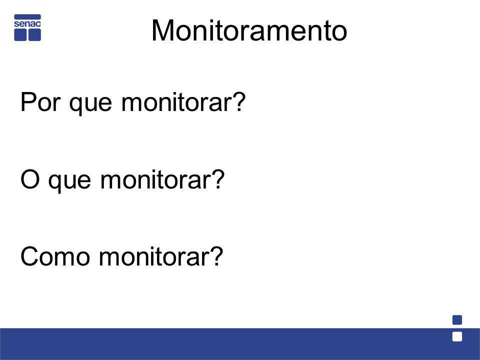 Monitoramento Por que monitorar? O que monitorar? Como monitorar?