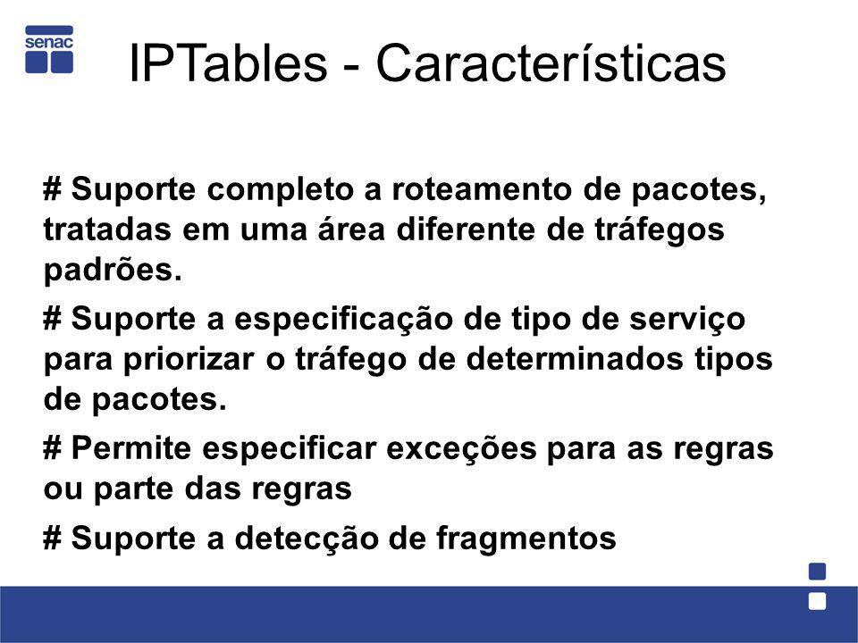 # Suporte completo a roteamento de pacotes, tratadas em uma área diferente de tráfegos padrões. # Suporte a especificação de tipo de serviço para prio