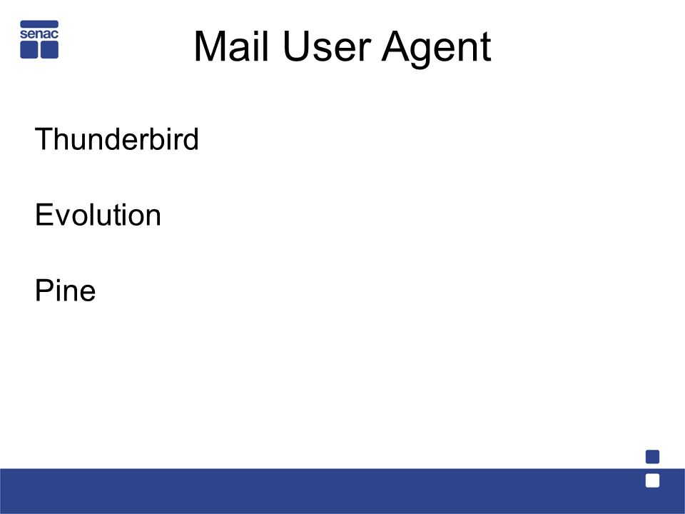 Mail User Agent Thunderbird Evolution Pine