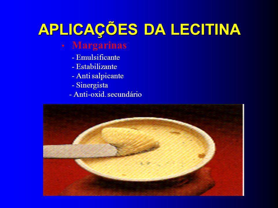 LECITINAS MAIOR PRODUTORA MUNDIAL DE LECITINAS: LUCAS MAYER (ALEMANHA) LECITINAS ENRIQUECIDAS PARA ALIMENTAÇÃO PARENTERAL LECITINAS FINS MEDICINAIS LECITINAS INDUSTRIAIS LECITINAS BRANQUEADAS
