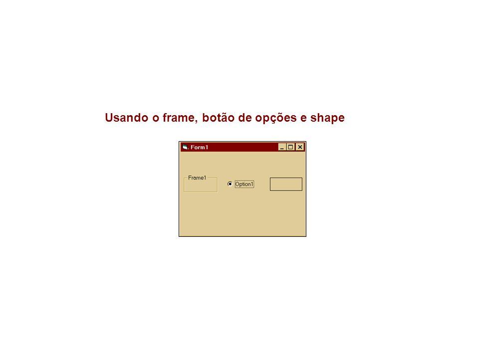 1.Objetos pertencentes ou não ao frame 2.