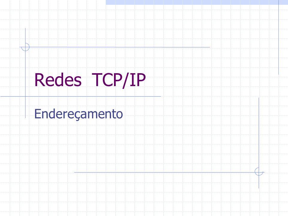Redes TCP/IP Endereçamento