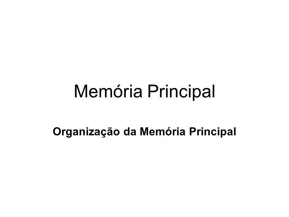 Memória Principal Organização da Memória Principal