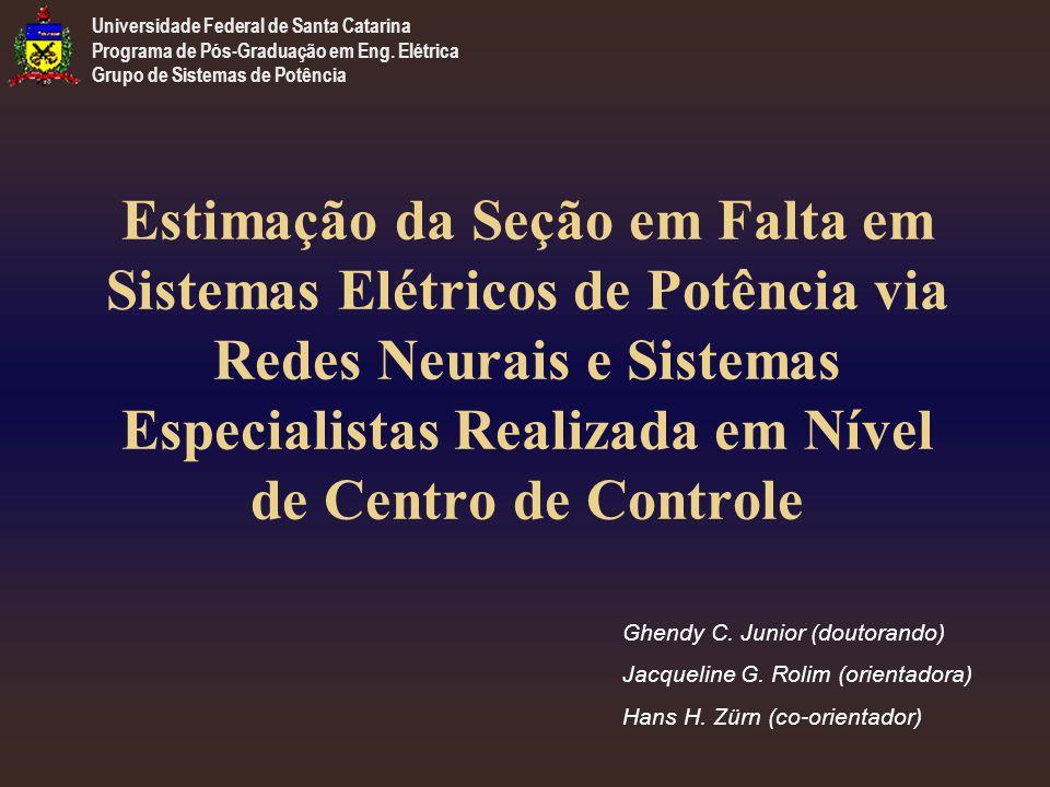 Estimação da Seção em Falta em Sistemas Elétricos de Potência via Redes Neurais e Sistemas Especialistas Realizada em Nível de Centro de Controle Ghendy C.