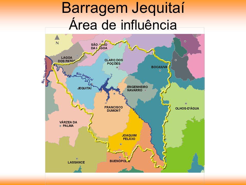 Barragem Jequitaí Área de influência