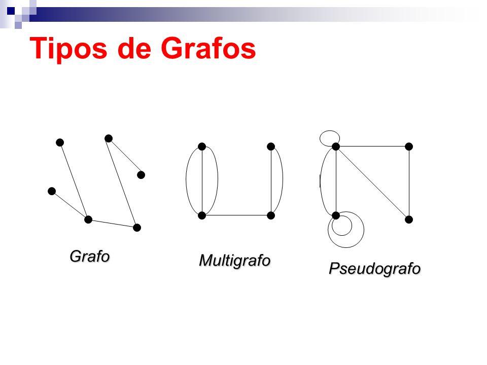 Grafo Multigrafo Pseudografo Tipos de Grafos