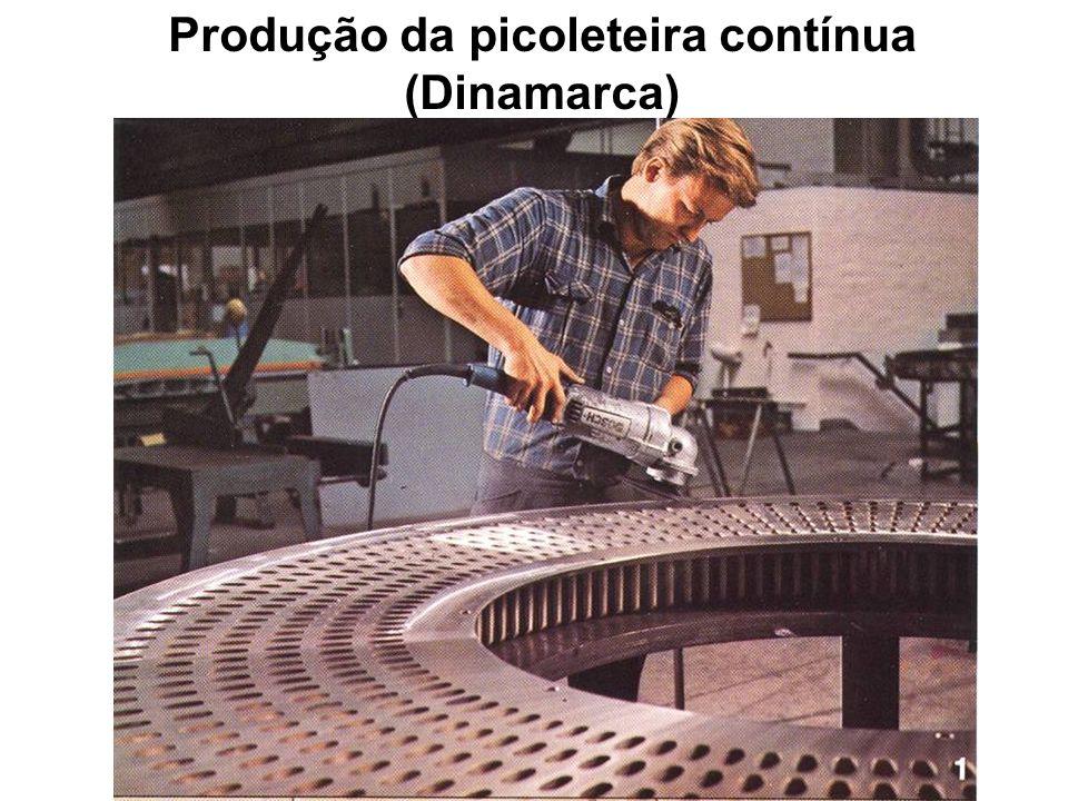 Produção da picoleteira contínua (Dinamarca)