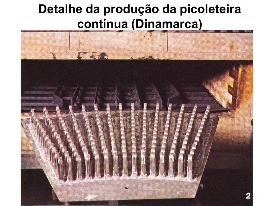 Detalhe da produção da picoleteira contínua (Dinamarca)