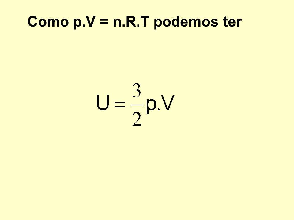 Como p.V = n.R.T podemos ter