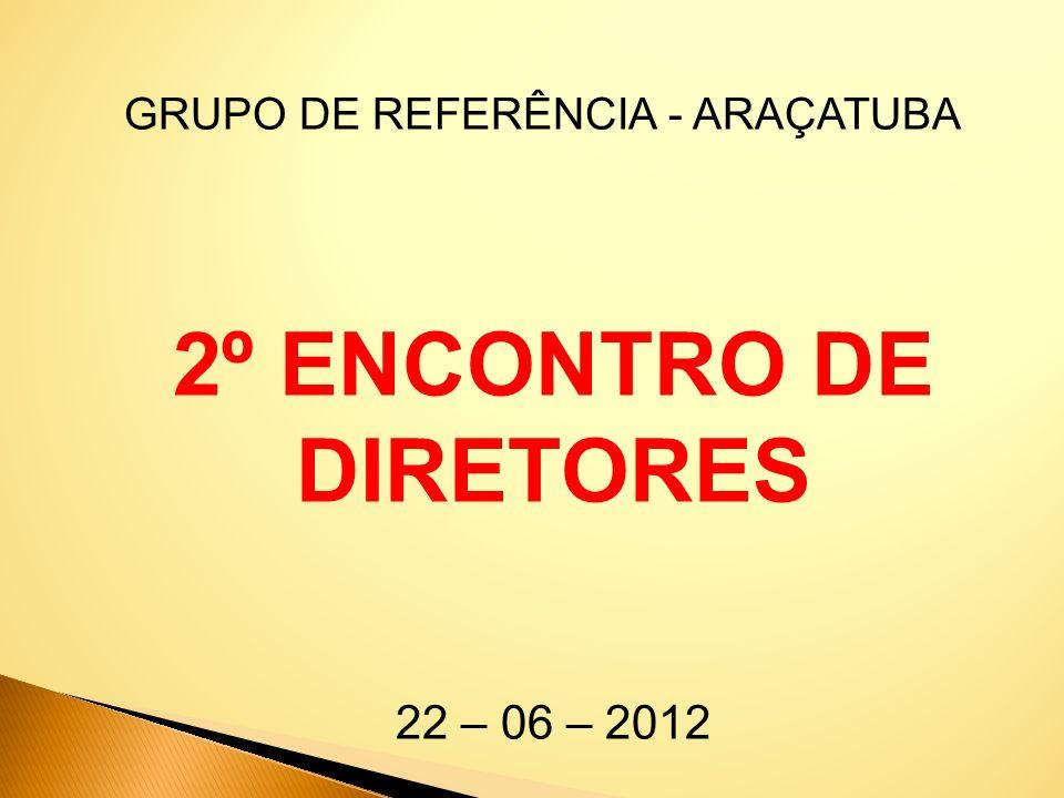 GRUPO DE REFERÊNCIA - ARAÇATUBA 2º ENCONTRO DE DIRETORES 22 – 06 – 2012