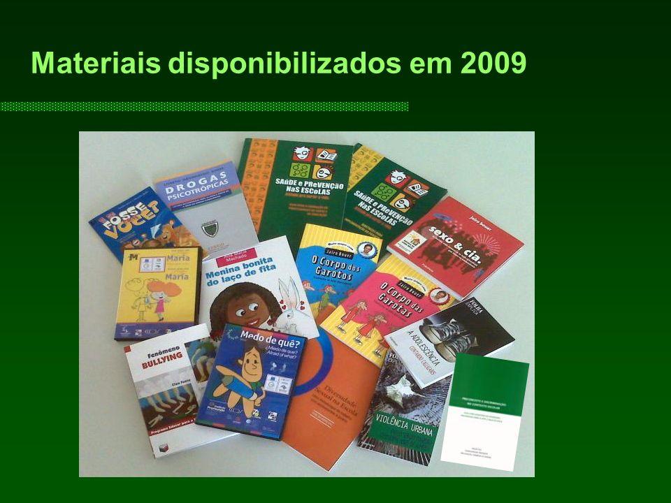 Materiais disponibilizados em 2009