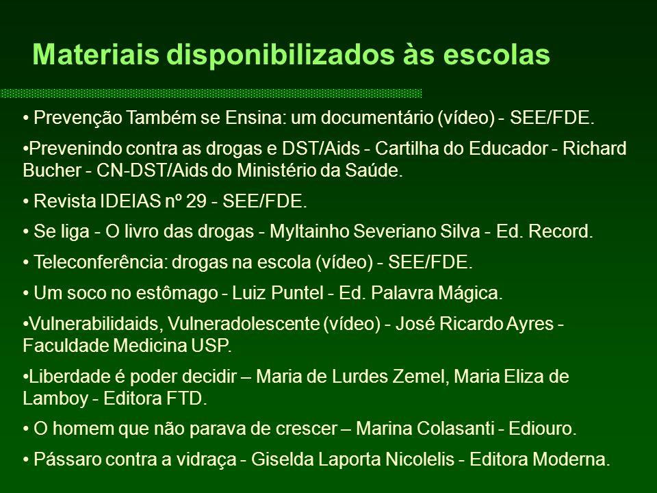 Prevenção Também se Ensina: um documentário (vídeo) - SEE/FDE.