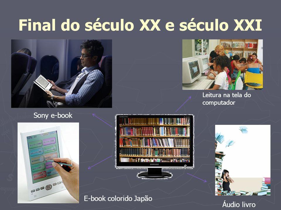 Final do século XX e século XXI Leitura na tela do computador Sony e-book E-book colorido Japão Áudio livro