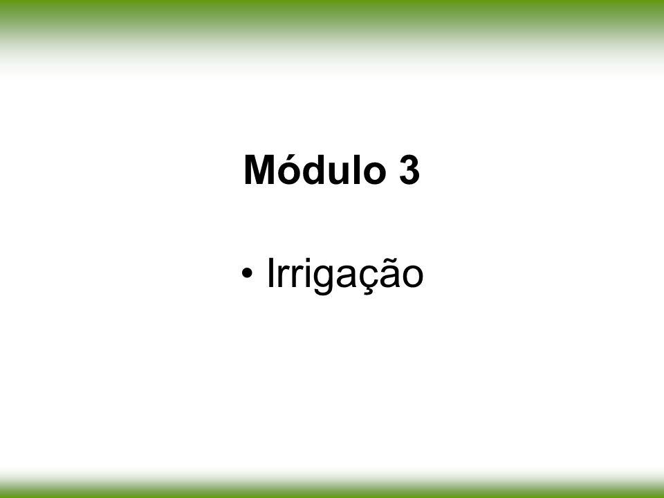 Módulo 3 Irrigação