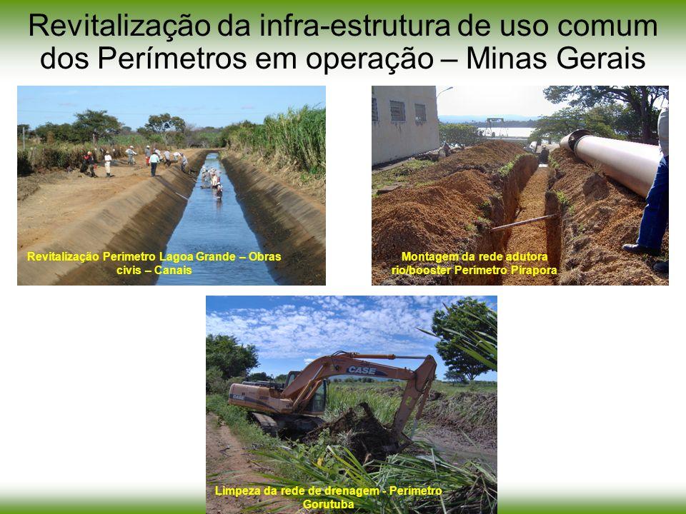 Revitalização da infra-estrutura de uso comum dos Perímetros em operação – Minas Gerais Revitalização Perímetro Lagoa Grande – Obras civis – Canais Mo