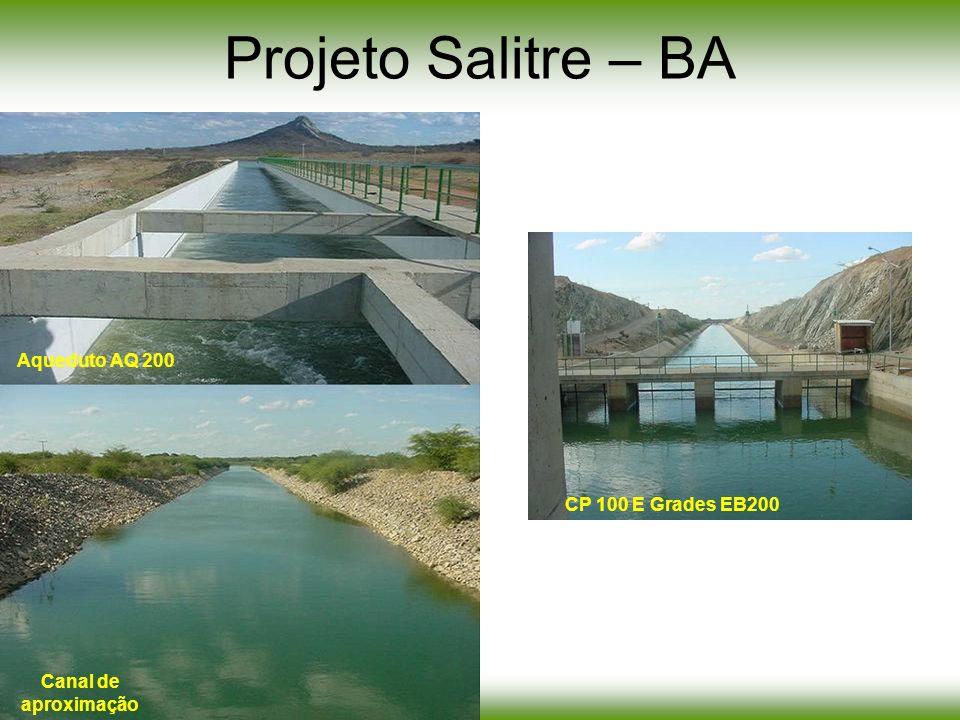 Projeto Salitre – BA CP 100 E Grades EB200 Aqueduto AQ 200 Canal de aproximação