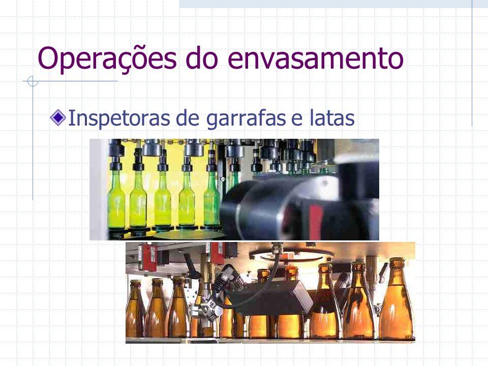 Operações do envasamento Inspetoras de garrafas e latas
