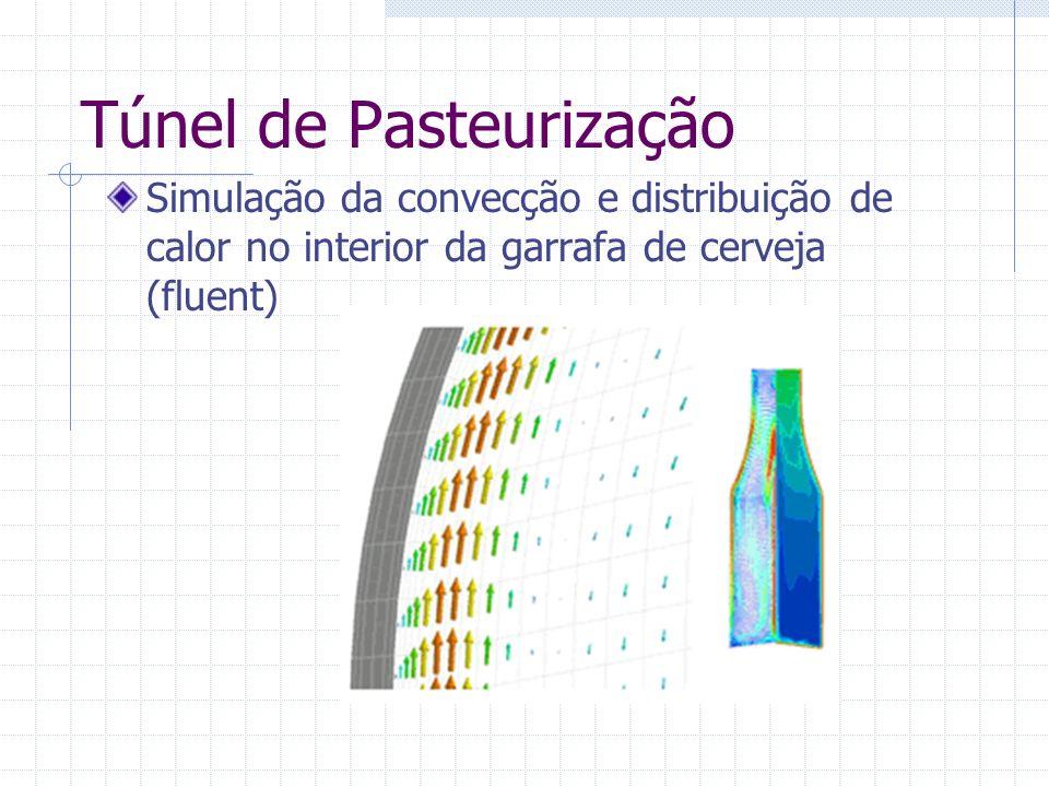 Túnel de Pasteurização Simulação da convecção e distribuição de calor no interior da garrafa de cerveja (fluent)