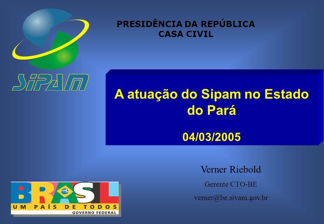 SISTEMA DE PROTEÇÃO DA AMAZÔNIA Centro Técnico Operacional do Sipam - Belém Histórico 31.07.1990 Assinada portaria que cria Grupo de Trabalho para formular o projeto de concepção do SIVAM.