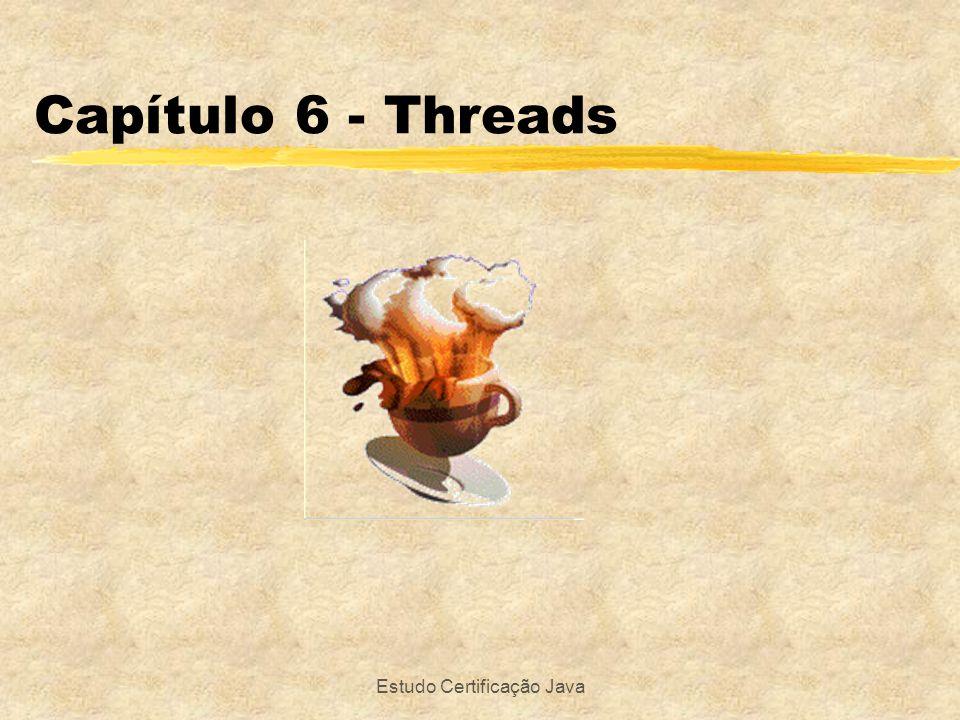 Estudo Certificação Java Capítulo 6 - Threads