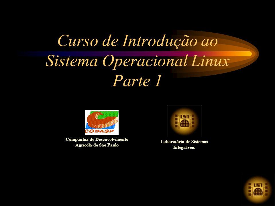 Curso de Introdução ao Sistema Operacional Linux Parte 1 Companhia de Desenvolvimento Agrícola de São Paulo Laboratório de Sistemas Integráveis