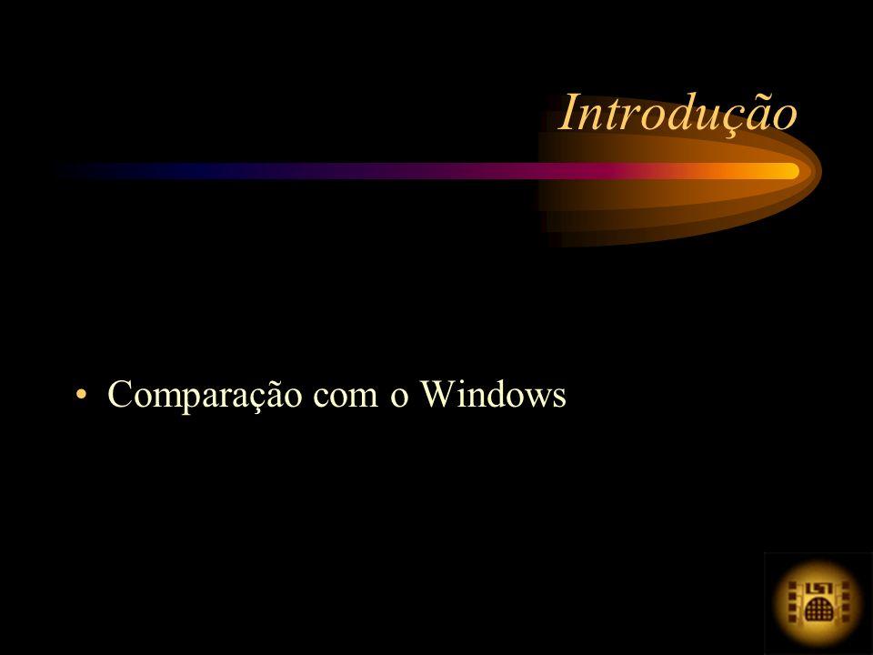Comparação com o Windows