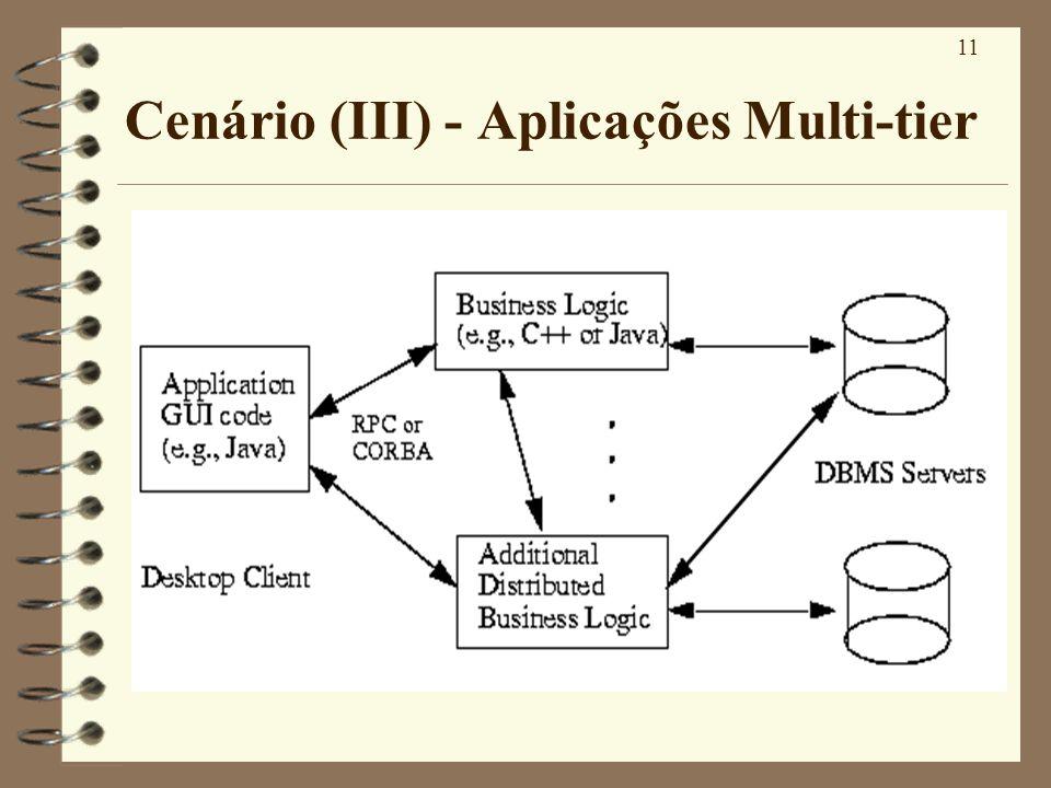 11 Cenário (III) - Aplicações Multi-tier