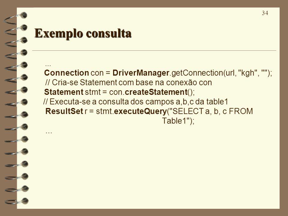 34 Exemplo consulta...