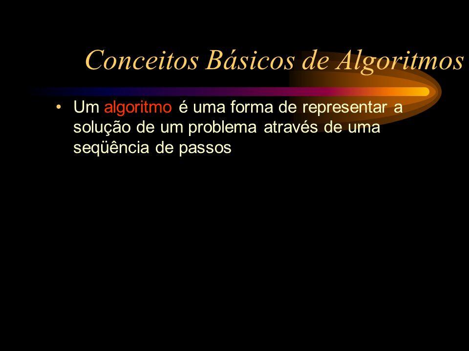 Um algoritmo é uma forma de representar a solução de um problema através de uma seqüência de passos