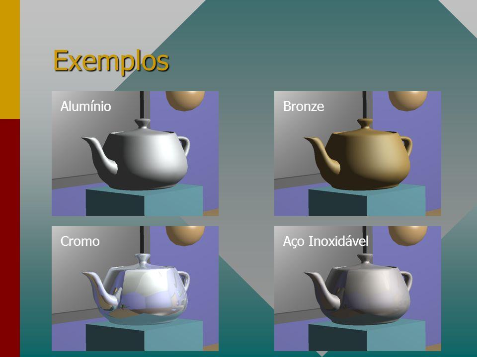 Exemplos AlumínioBronze CromoAço Inoxidável