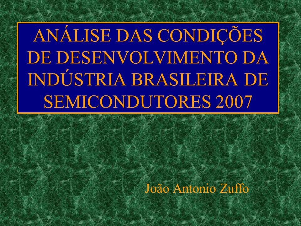 ANÁLISE DAS CONDIÇÕES DE DESENVOLVIMENTO DA INDÚSTRIA BRASILEIRA DE SEMICONDUTORES 2007 João Antonio Zuffo
