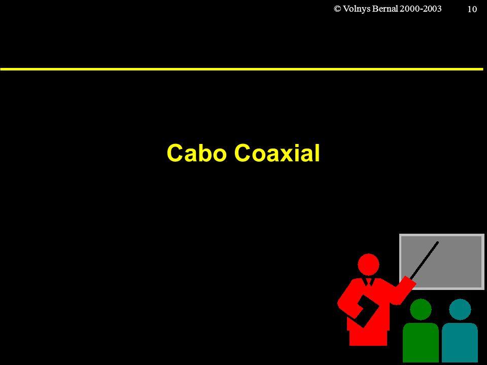 © Volnys Bernal 2000-2003 10 Cabo Coaxial
