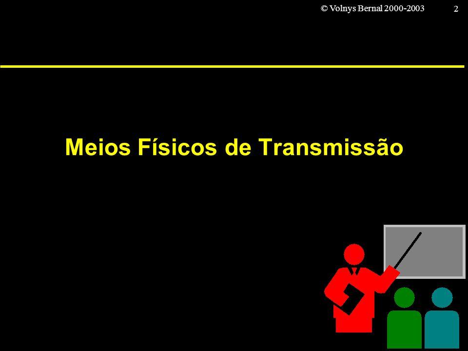 © Volnys Bernal 2000-2003 2 Meios Físicos de Transmissão