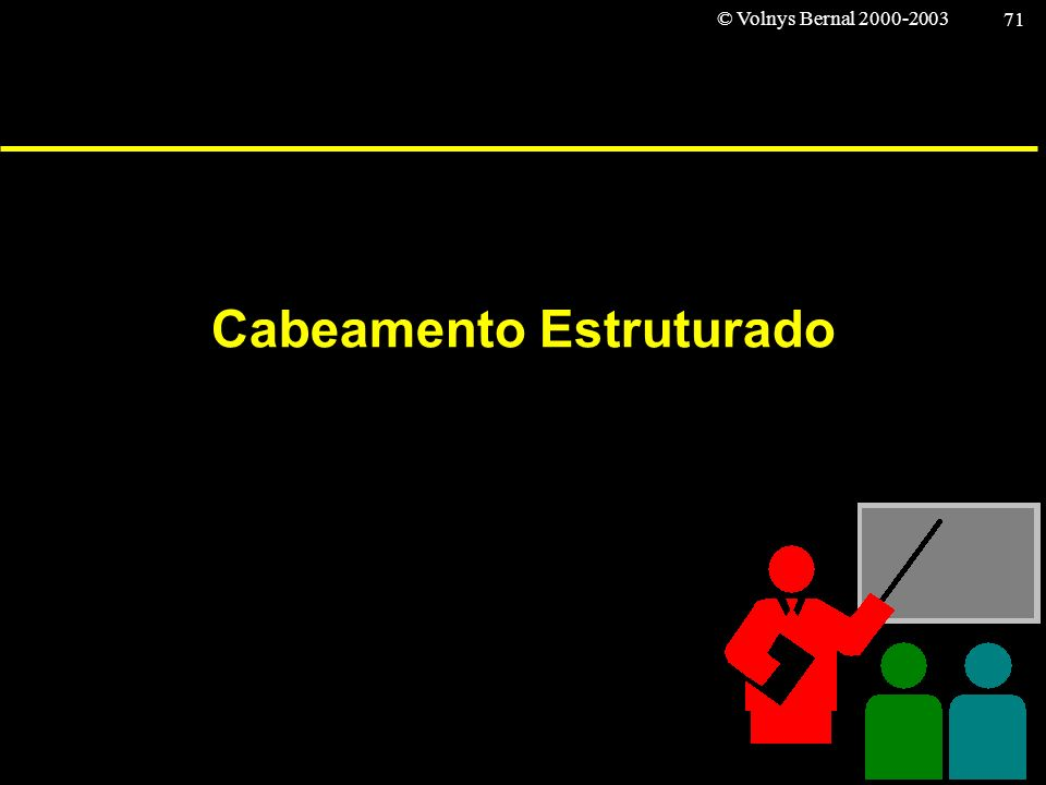 © Volnys Bernal 2000-2003 71 Cabeamento Estruturado