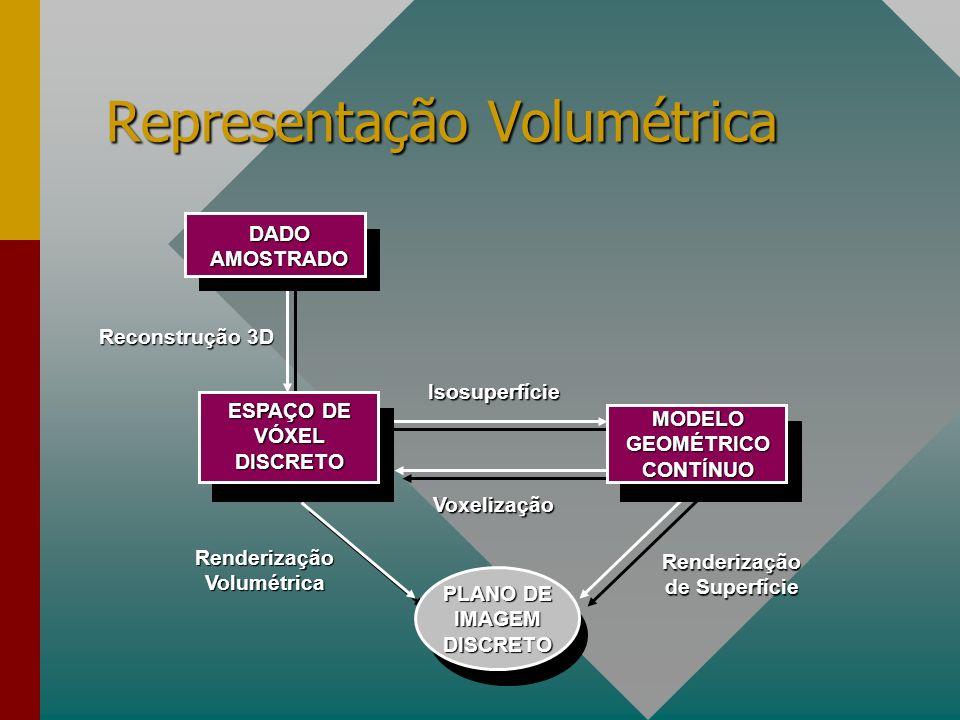 Taxonomia de Representação Volumétrica CurvolinearesRectilineares Anisotrópico Isotrópico Não-conexos Volumes Conexos IrregularesRegulares AmorfoLineares A organização está relacionada com a obtenção dos dados.
