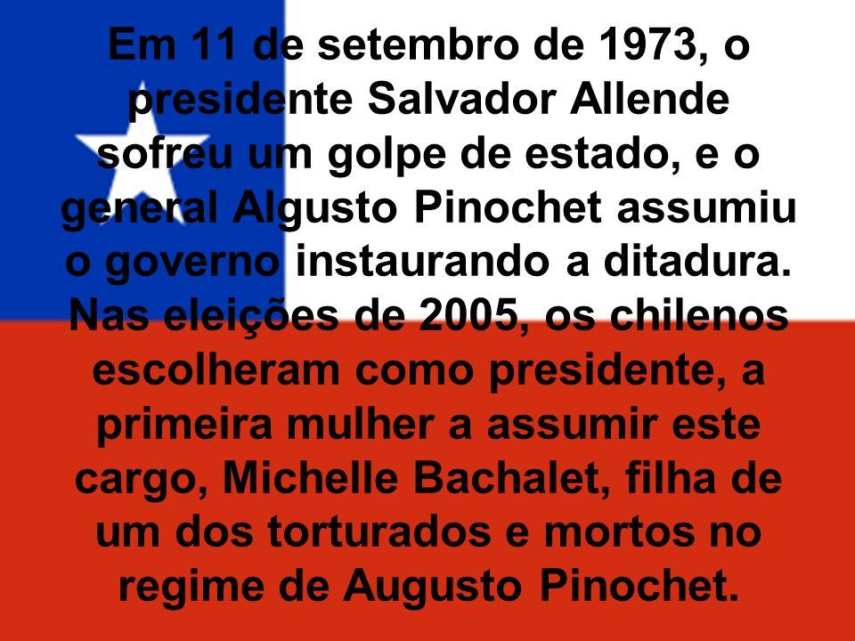 Em 11 de setembro de 1973, o presidente Salvador Allende sofreu um golpe de estado, e o general Algusto Pinochet assumiu o governo instaurando a ditad