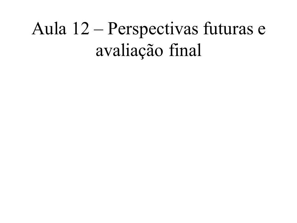 Aula 12 – Perspectivas futuras e avaliação final