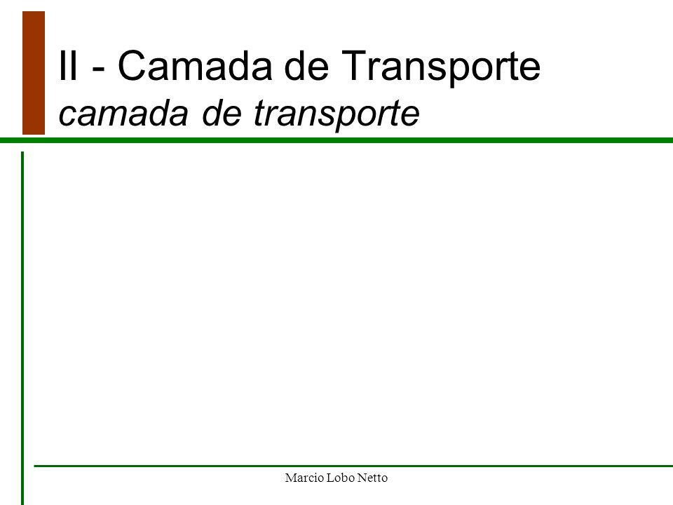 Marcio Lobo Netto II - Camada de Transporte camada de transporte