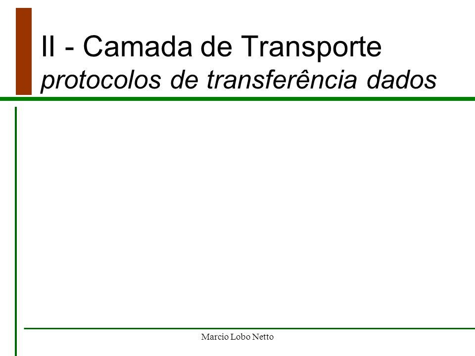 Marcio Lobo Netto II - Camada de Transporte protocolos de transferência dados
