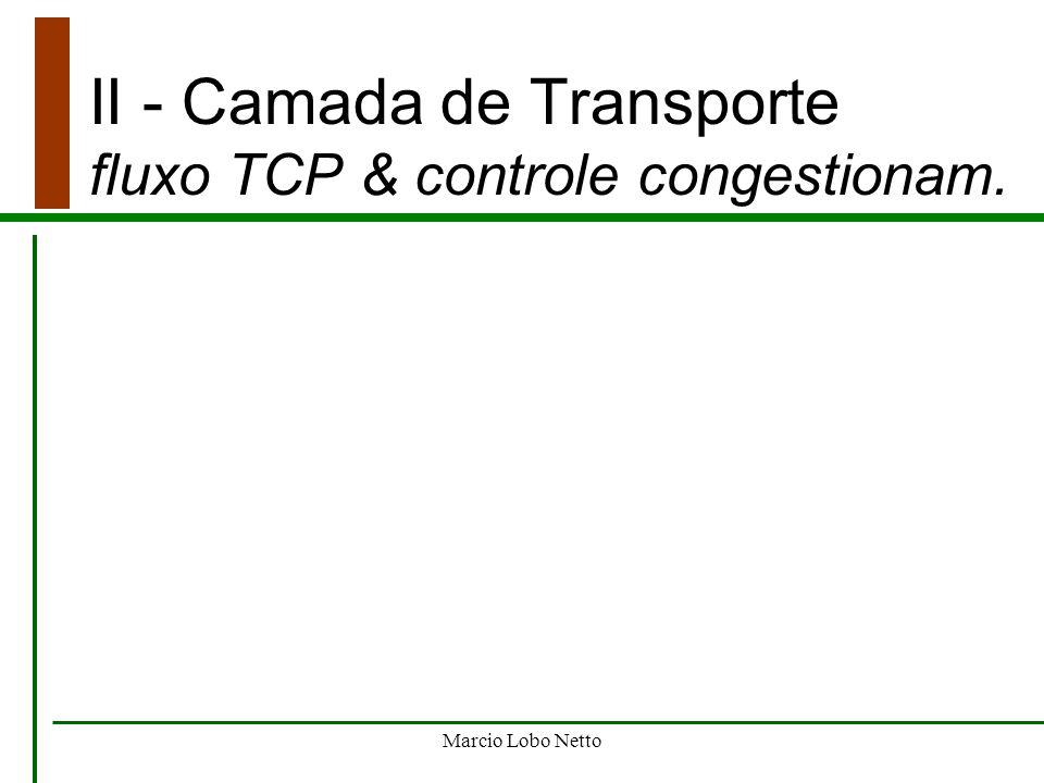 Marcio Lobo Netto II - Camada de Transporte fluxo TCP & controle congestionam.