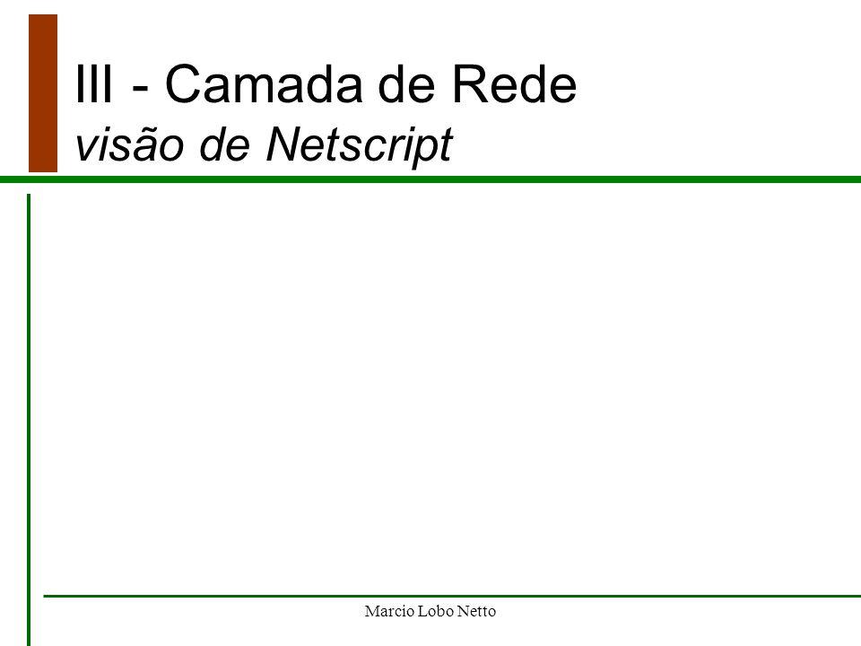 Marcio Lobo Netto III - Camada de Rede visão de Netscript