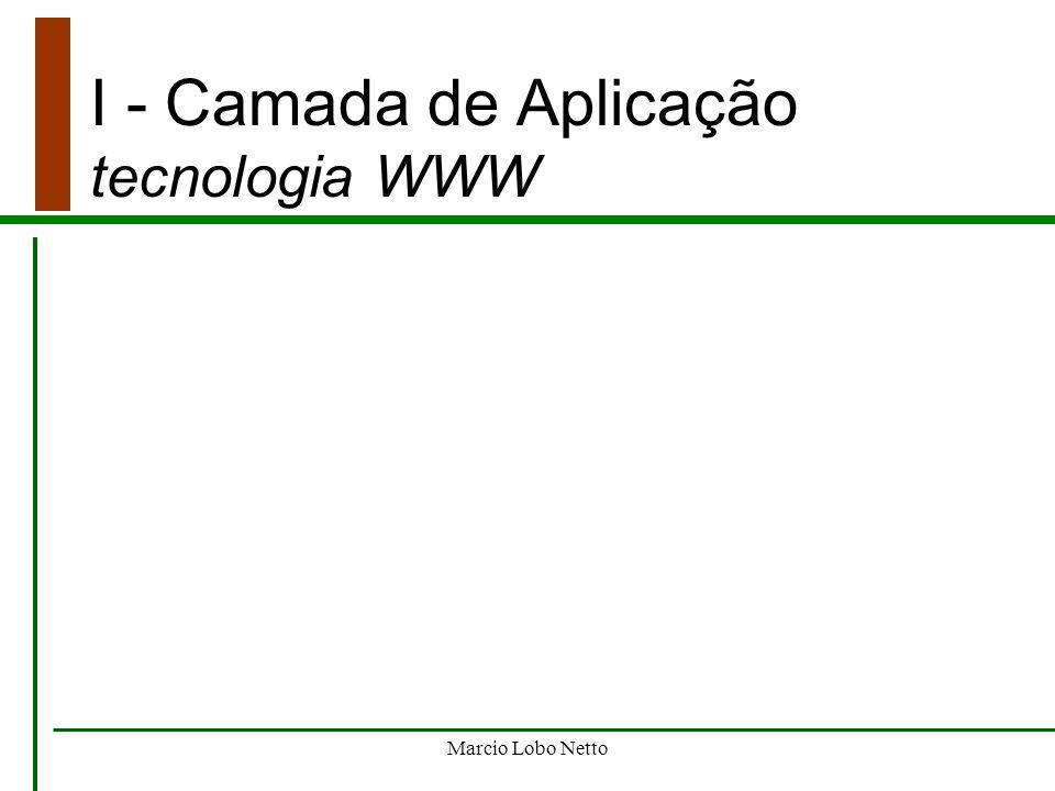 Marcio Lobo Netto I - Camada de Aplicação modelo ISO / OSI